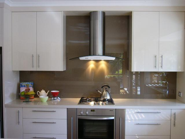 White Kitchen Splashback Ideas mosaic tiles kitchen splashback. tui bird printed image on glass