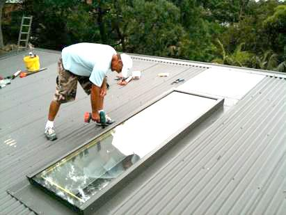 Skylight Installation - Outdoor
