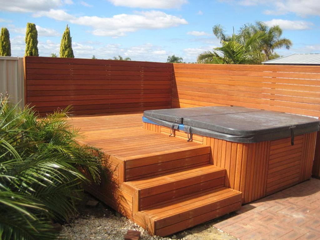 Decking ideas elevated decking timber decking for External timber decking