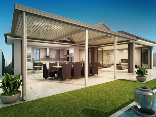 Designer pergola range lysaght living Better homes and gardens website australia