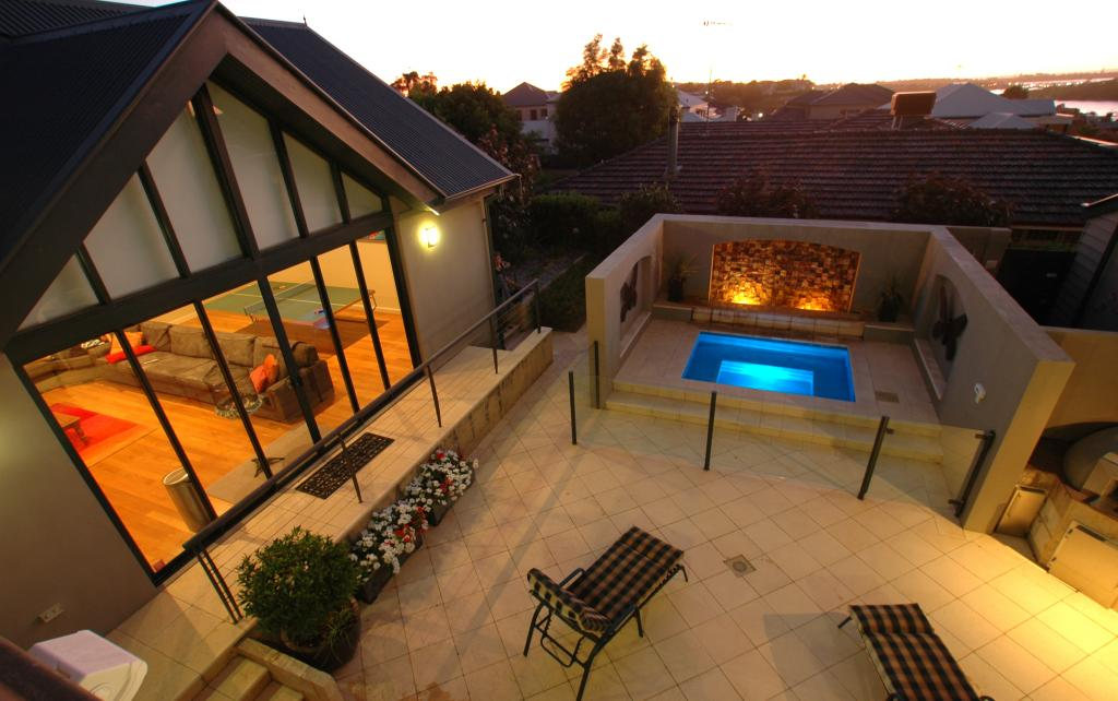 Spas inspiration q3 architecture australia hipages for Spa patio designs
