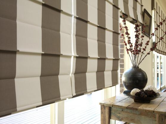 Roman Blind Ideas by Queenscliff Interiors