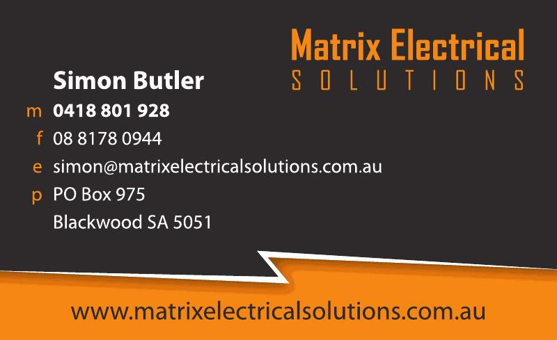 For All Your Electrical Needs Call Matrix Electrical
