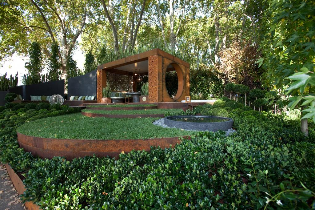 Gold award winning garden from the melbourne international for Garden designs melbourne