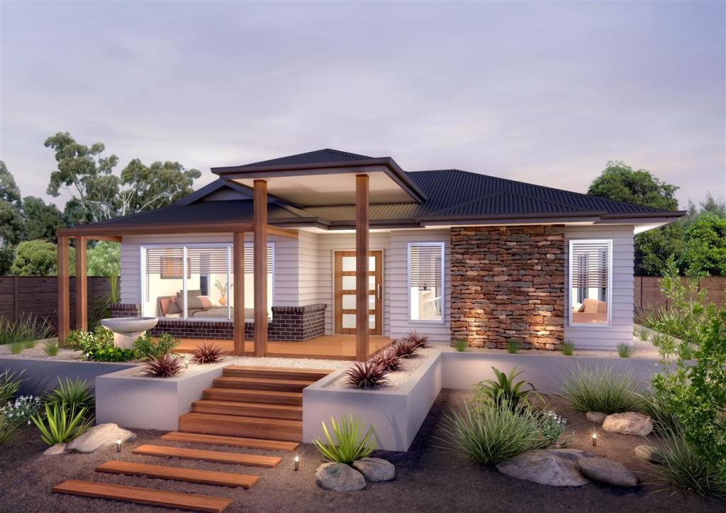 Frontgarden Ideas Exteriors Our Designs Gj Gardner Homes Act Australia