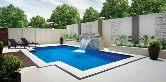 Pool design ideas get inspired by photos of pools from for Pool and garden design