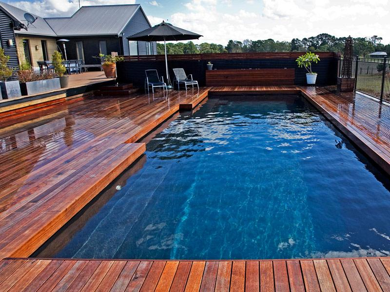 Ideas For Decks Around PoolsAbove Ground Pool Decks Pictures And