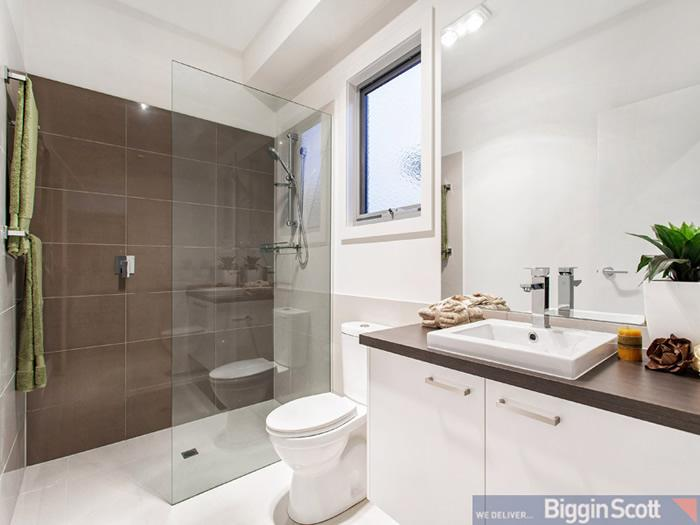 Smart small space solutions newtown residence home for Small washroom renovation