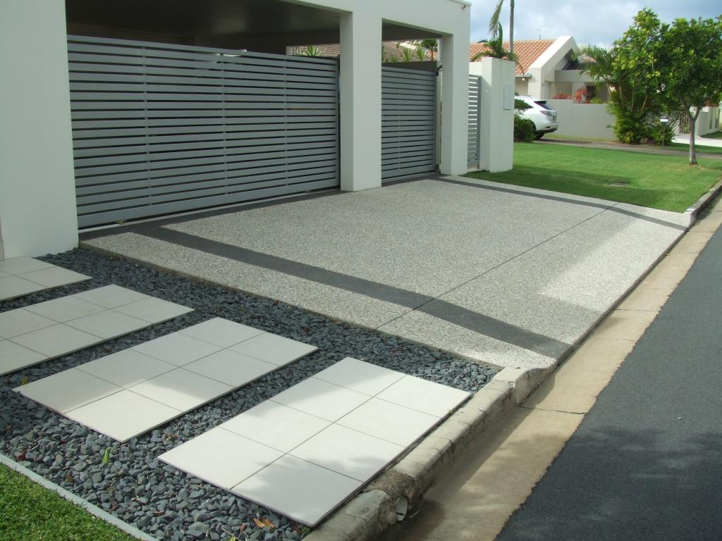 Driveways inspiration caltabiano concreting australia Home driveway design ideas