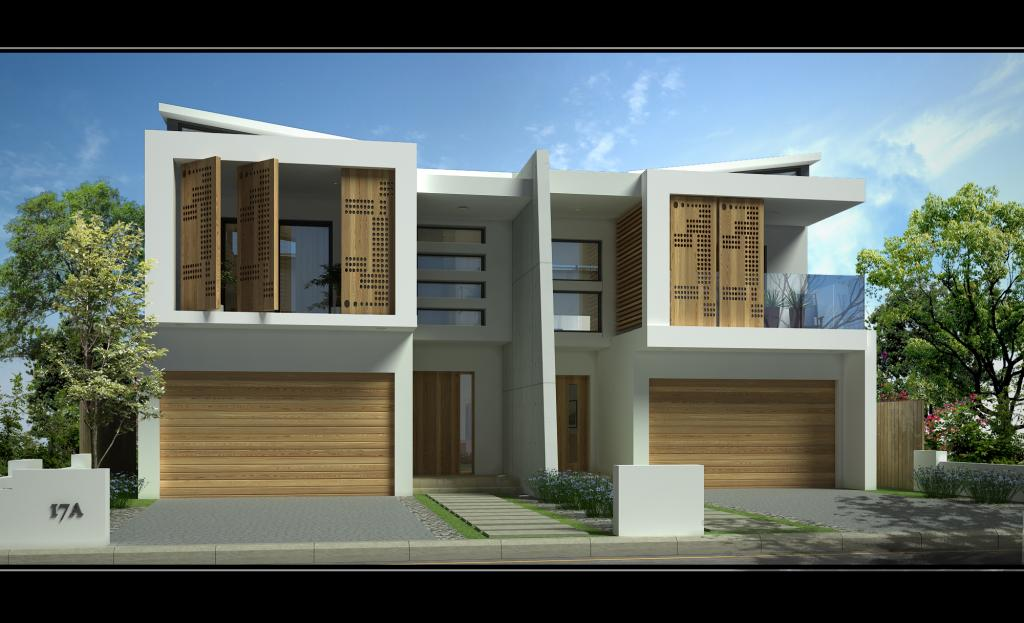 Style ideas garages sandringham new duplex jr home for Duplex townhouse designs