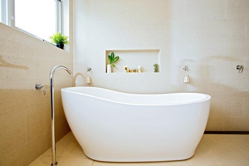 Modern free standing bath newly installed