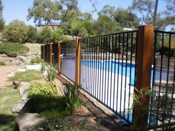Pool fencing design ideas get inspired by photos of pool for In ground pool fence ideas