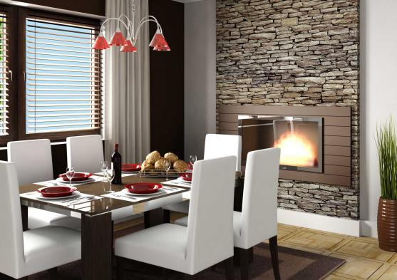 Get inspired by photos of dining rooms from australian for Foyer mural electrique costco