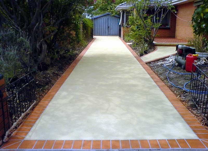 Spray On Existing Concrete