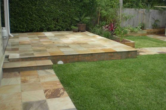 Outdoor Tile Designs by Red Cedar Gardens