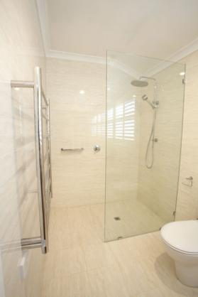 Frameless Shower Screen Designs by Salt kitchens + bathrooms