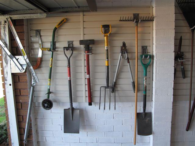 Keep your tools organised with appropriate garage storage solutions