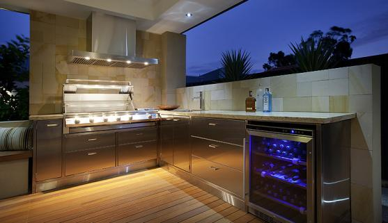 Outdoor Kitchen Ideas by Outside In Landscape Management