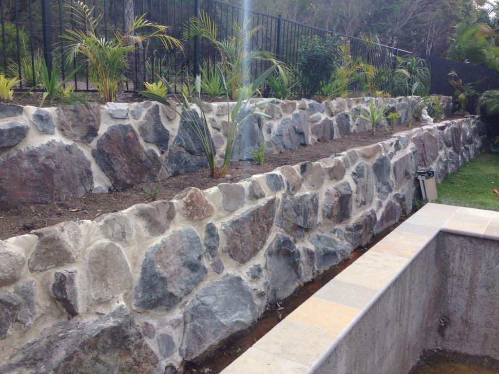 Retaining walls inspiration ground force landscapes pty for Ground force garden designs