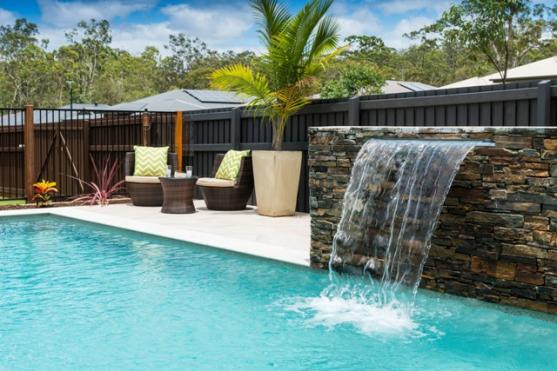 Get inspired by photos of water features from australian - Swimming pool water features perth ...