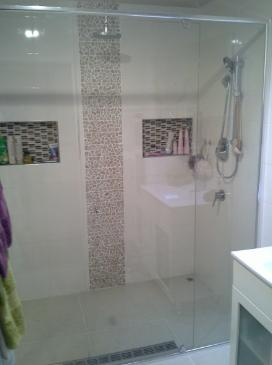 Frameless Shower Screen Designs by Dimension Glass Pty Ltd