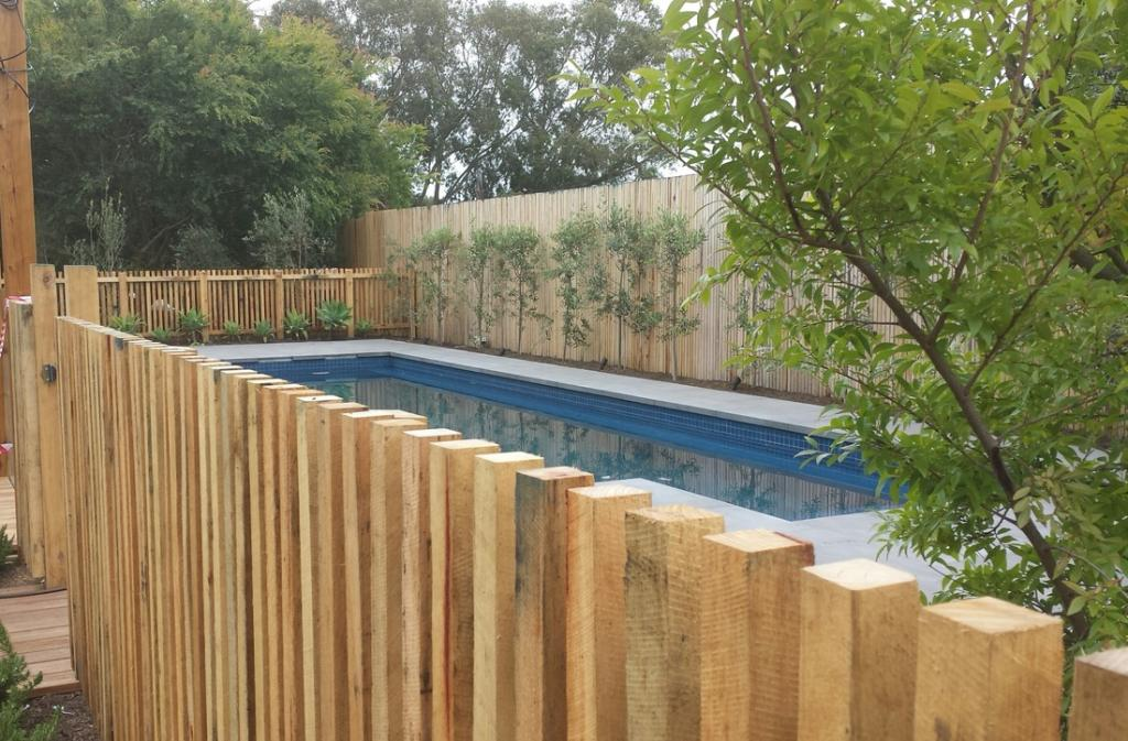 Timber Fencing Inspiration Green Rock Construction