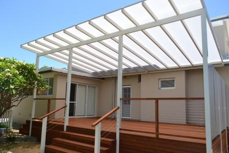 Patios inspiration urban exteriors patios decks pty for Roof decking material options