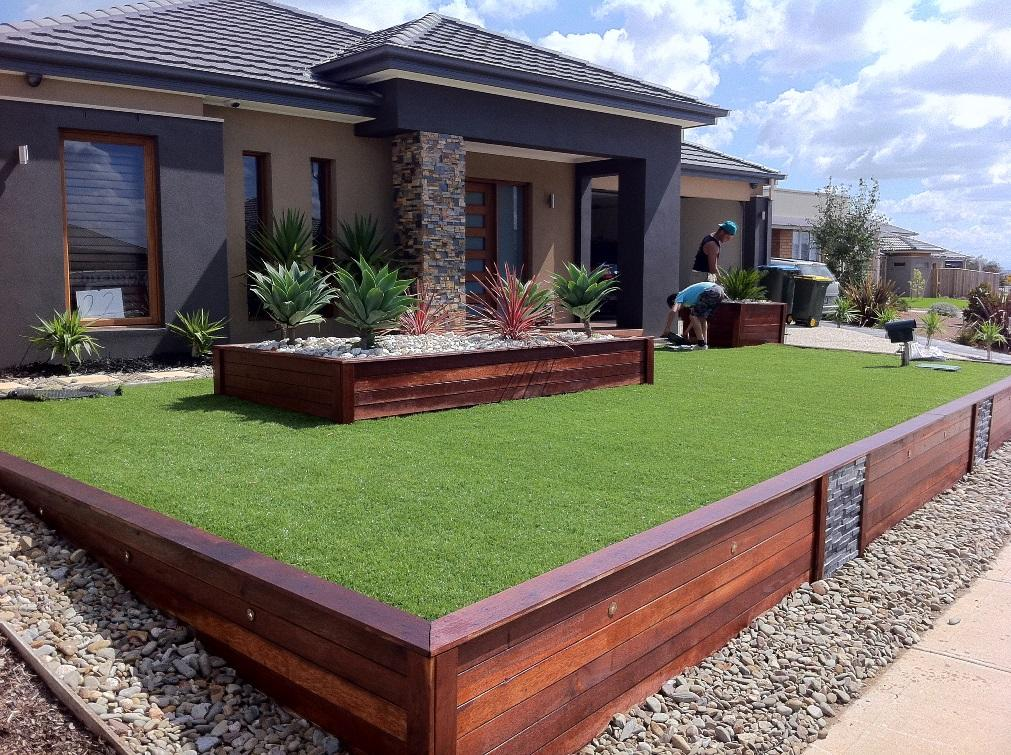 Hercules landscapes hoppers crossing 10 for Front yard garden designs australia