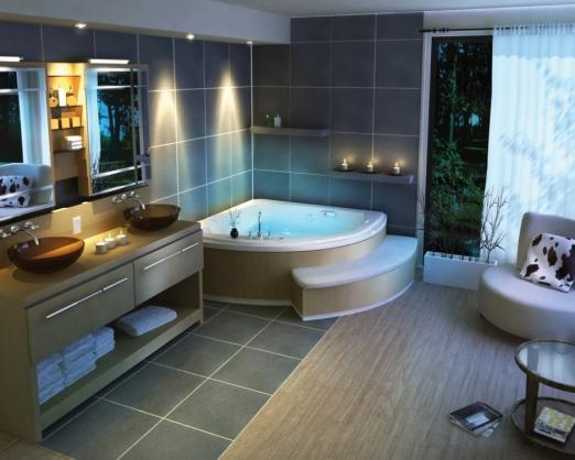 Corner Bath Ideas by Waterboys Plumbing Services