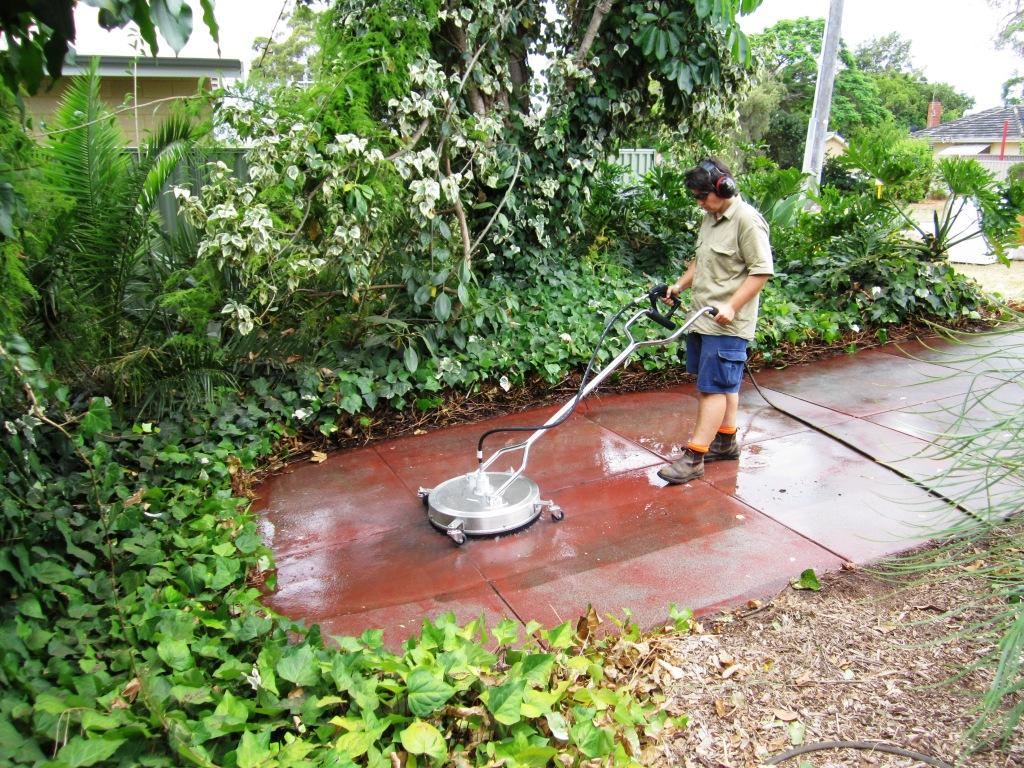 Jet gem high pressure cleaning perth hills swan valley for Cement cleaning solution