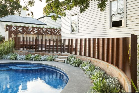 Pool Fencing Ideas by Paal Grant Designs in Landscaping