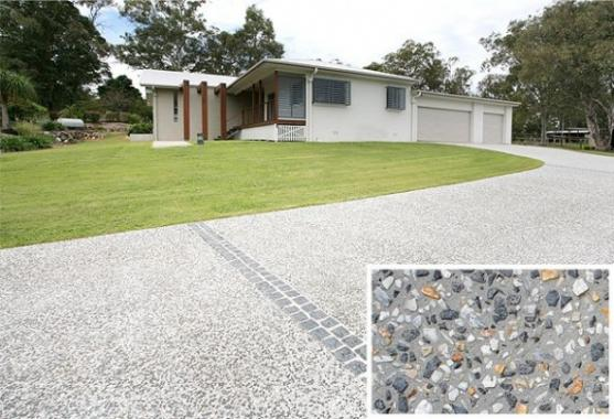 Driveway design ideas get inspired by photos of for Cement driveway ideas