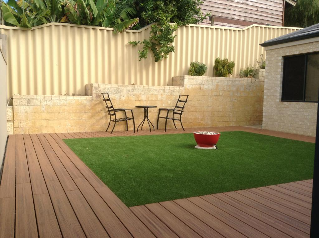 5 simple landscaping ideas for australian backyards for Garden decking and grass