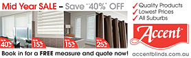 Up to 40% Off Special Offer on Quality Blinds to Suit Your Home!