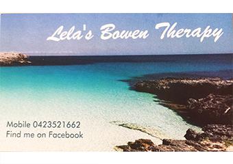 Lela's Bowen therapy