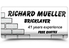 Richard Mueller Bricklaying