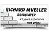 Richard Mueller Bricklaying