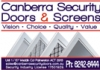 Canberra Security Doors & Screens