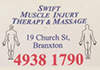Swift Muscle Injury Therapy & Massage