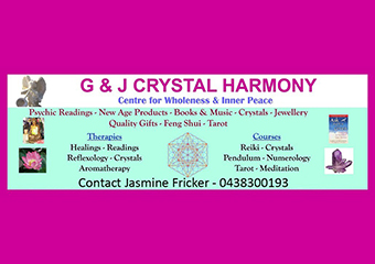 G & J CRYSTAL HARMONY - PSYCHIC SOLUTIONS - Richmond