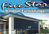Five Star Blinds and Shutters
