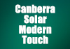 Canberra Solar . Modern Touch