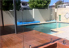 Diamond glass pool fencing