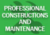Professional Constructions and Maintenance