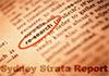 Sydney Strata Report