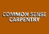 Common Sense Carpentry