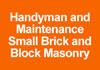 handyman and maintenance small brick and block masonry repairs