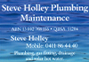 Steve Holley Plumbing Maintenance    .... QBCC  Licence 51204