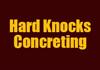 Hard knocks concreting