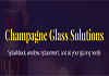 Champagne Glass Solutions